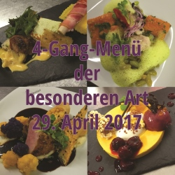 4 Gang Menü der besonderen Art 2016